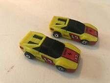 Lot of 2 Matchbox Burnin Key Cars Yellow Ferrari #17 NICE!!! No Key