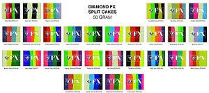 Diamond FX Facepaint Split Cakes 50 grams  Face Paint