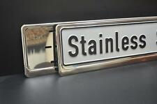 SINGLE CHROME STAINLESS STEEL NUMBER PLATE SURROUND HOLDER FRAME  -  ANY VEHICLE