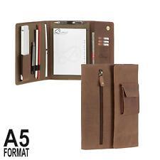 Schreibmappe A5 Handwerkermappe Leder braun für Aufmaß + Kundenbesuche Dethloff