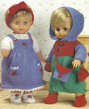 DOLLS CLOTHES KNITTING PATTERN IDEAL 12/22 INCH IDEAL TINY TEARS  (1022 )