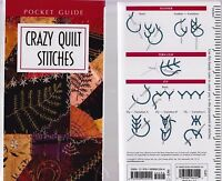 Crazy Quilt Stitches Pocket Guide - small and simple reference booklet