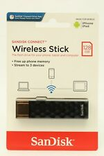 128GB SanDisk CONNECT Wireless USB Stick >2 J. Garantie!< Android Apple iPhone