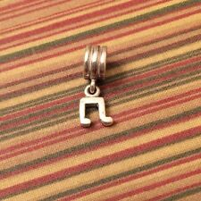 Preowned Retired Pandora Charm MOP Heart Inlay Mother Of Pearl 925 ALE