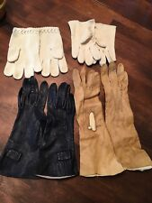 Antique Vintage Womens Gloves - Lot Of 4!