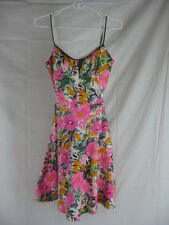 Vtg 60s 70s Deweese Womens Vintage PINK Garden Party Bathing Swim Suit Dress