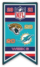 2021 Semaine 6 Bannière Broche Jacksonville Jaguars NFL Vs. Miami Dolphins Super