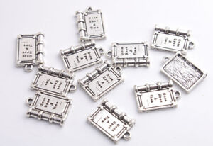 20PCS Antiqued Silver Once Upon A Times Book Charms
