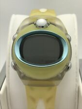 Pulsar Spoon Unisex Stainless Steel Yellow Silicone Band Digital Watch PZX 037S