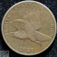 1857 Flying Eagle Cent, Very Good Condition, Free Shipping, Buy 4 get $5, C5132