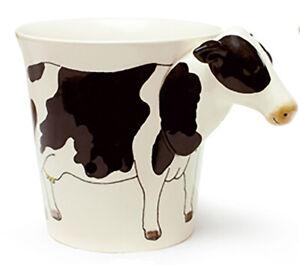 Cow Mug 3D head handle, Handpainted Ceramic Cup WINDHORSE