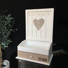 Wooden Jewellery Box  Key Hooks Organiser Desktop Makeup Jewellery Rack