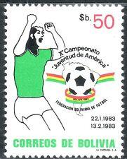 SELLOS DEPORTES FUTBOL. BOLIVIA 1983 634 1v.
