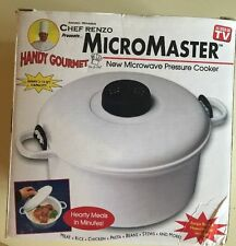 Chef Renzo Micromaster Kitchen Microwave Pressure Cooker 2-1/2 Qt  NEW