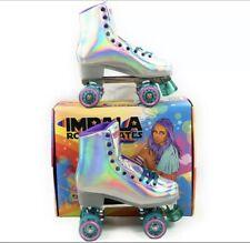 NEW Impala Quad Roller Skates Holographic Vegan Women's Sz 10 SHIPS ASAP TODAY!