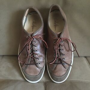 Cole Haan Men's Gray Leather Shoes Sneakers Leather Laces C08640 Size US 13