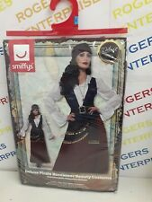 Adult Ladies Deluxe Premium Quality Pirate Buccaneer Beauty Costume Size L 16-18
