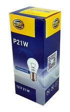 Hella 20 unidades, 21w bombilla luz trasera luz de freno lámpara p21w 12v ba15s claro