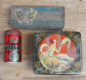 3 boites anciennes publicitaires