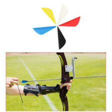 50pcs Arrow Fletching Drop Shape Plastic Arrow Hunting Archery 6 Colors CB