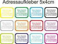 Wunsch Text Namen Adress Aufkleber Kindergarten Etiketten Wasserfest 50x40mm