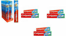 COLGATE EXTRA CLEAN TOOTH BRUSH 3 PACK AND TOOTHPASTE