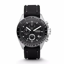 Fossil Men's CH2573 Decker Stainless Steel Chronograph Watch With Black Silicon