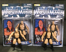 WWF WWE WrestleMania SCSA Discontinued Variant + Reissue Both MOC + Mint Loose!