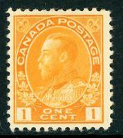 Canada 1922 Admiral 1¢ Orange Yellow Scott 105 Mint H254 ⭐☀⭐☀⭐