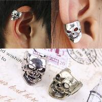 1pc Fashion Gothic Punk Vintage Skull Ear Cuff Wrap Clip on Earring No Piercing