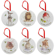 Royal Worcester Wrendale Christmas Decoration Tree Ornaments Set of 6