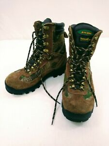 Mens SLIVIS Brown Insulated Camo Breathable Waterproof Hunting Boots Size 6 NWOB
