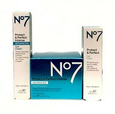 Boots No7 Protect & Perfect Intense NIGHT + EYES + LIP Care Full Size Creams