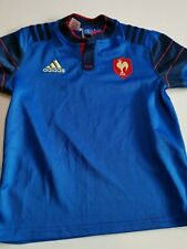 superbe  maillot de rugby FRANCE   marque adidas  taille 9/10 ans 2015