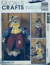 "McCall's 8388 Sewing Pattern Scarecrows - Wreath, Wall Hanging & 38"" Doll"