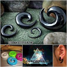 Dilataciones,expansores espiral acrílico hipoalergenico,plug ear, plugs 2-10mm