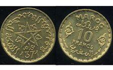MAROC 10 francs 1371-1951   SPL