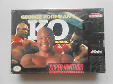 George Foreman Ko Boxing Snes Super Nintendo Mint boxed sealed