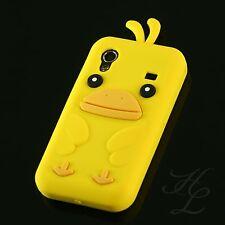 Samsung Galaxy ACE S5830 Silikon Case Schutz Hülle Schale Chicken Silikon Gelb