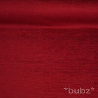JOHN LEWIS - CONGO CHENILLE FABRIC - RED CURTAIN SOFA CUSHION UPHOLSTERY CRIMSON