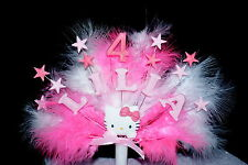 Hello Kitty Stars and Feathers Birthday/ Celebration  Cake Topper