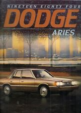 Dodge Aries 1984 USA Market Sales Brochure Sedan Wagon Custom SE