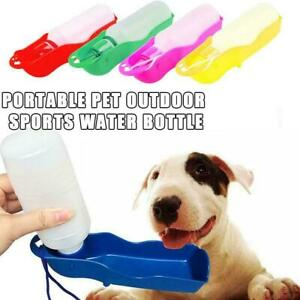 1PC Blue Pet Cat Dog Bottle Water Dispenser Outdoor Travel Portable Feeder HOT h