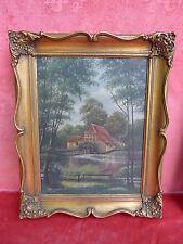 bello,moltissimo vecchio dipinto__Mulino ad Acqua__grznder Mühle presso Amburgo