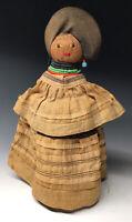 20th C. Seminole Native American Palmetto Fiber Female Doll Handmade
