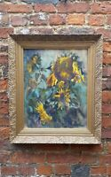 ❇ Mollie Cormick oil painting. Still life, sunflowers. Worthing artist.