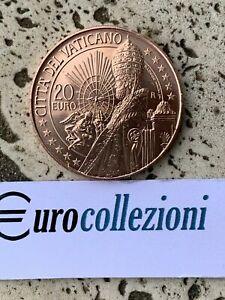 VATICAN 2021 20 EURO BU UNC FDC ART ET FOI SAINT PIERRE VATICANO SANS BOÎTE