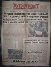 TUTTOSPORT 13/10/1952  ciclismo Bartali  Campione d'Italia