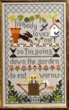 10% Off Moira Blackburn Samplers Counted X-stitch chart - Nobody Loves Me