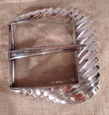 Patricia Von Musulin Vintage Modernist Sterling Silver Massive Belt Buckle 245g